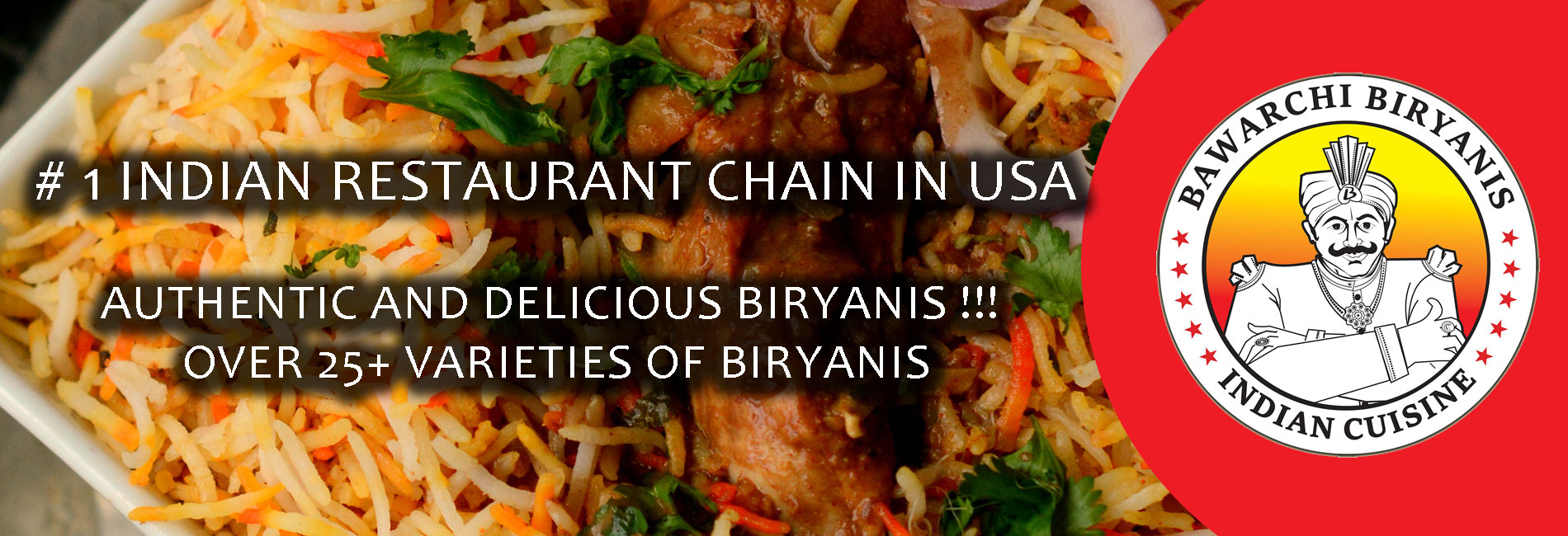 Bawarchi Biryanis - #1 Indian Restaurant in USA... Over 25+ biryanis....