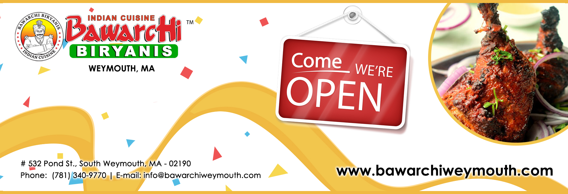 Bawarchi Weymouth, MA - Now Open