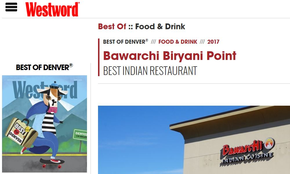 Bawarchi Biryanis - Best Indian Restaurant in Denver
